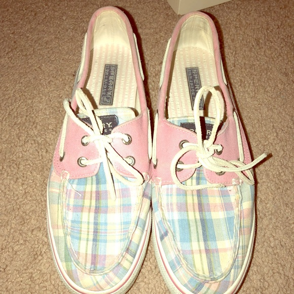 Sperry Shoes   Pink And Plaid Sperry